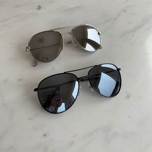 Old Navy Wire-Frame Aviator Sunglasses 2 pairs